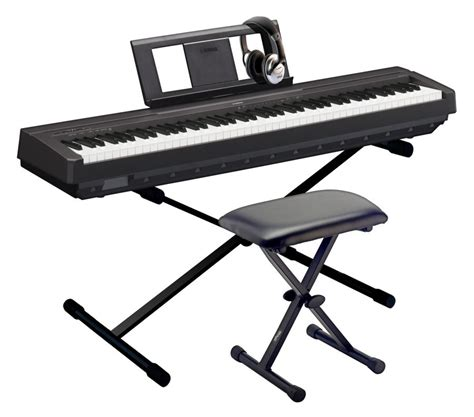 portable piano bench yamaha p 45 portable piano pack with p 45 piano