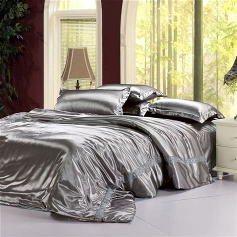 silver satin comforter satin bedding and silver bedding on pinterest