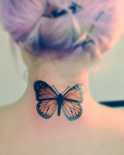 tattoo neck butterfly back neck simple butterfly tattoo for women tattooshunt com