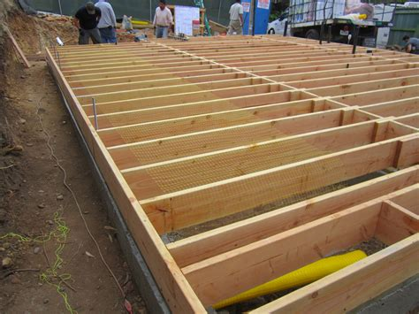 how to frame a floor foundations green button homes