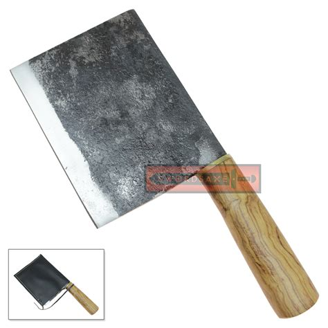 big handmade high carbon steel chef s cleaver kitchen