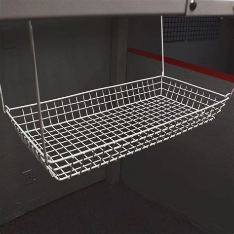 12 x24 shelf basket white the garage