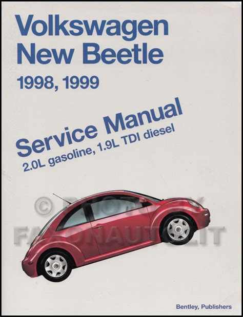 1998 1999 vw new beetle service manual shop 2 0l tdi ebay 1998 1999 vw new beetle repair shop manual