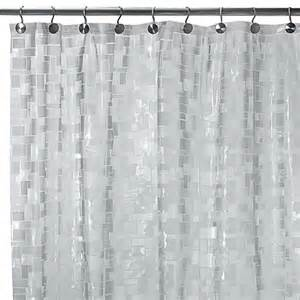 cubes vinyl 70 inch w x 72 inch l shower curtain bed