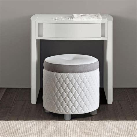 bianca white high gloss mini dressing table mirror stool set   interiors