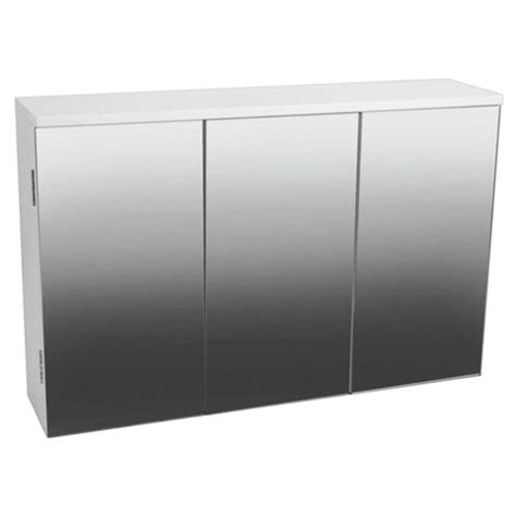 triple mirrored bathroom cabinet buy triple mirror door bathroom cabinet white from our