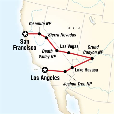 san francisco map of america los angeles to san francisco express in united states
