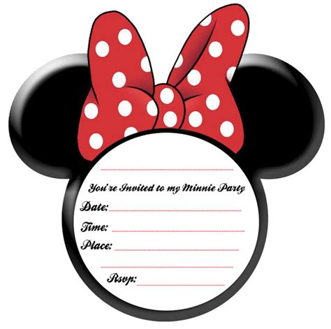 free minnie mouse invitations templates minnie mouse invitation template free