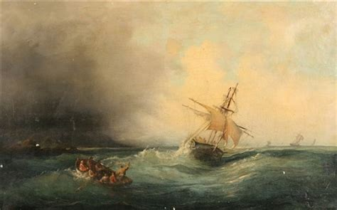 boat auctions barrie boats in a stormy sea by fran 231 ois pierre bernard barry
