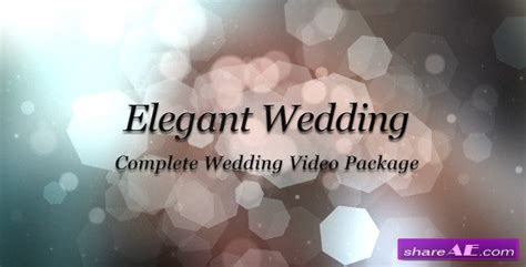 videohive elegant wedding package after effects project