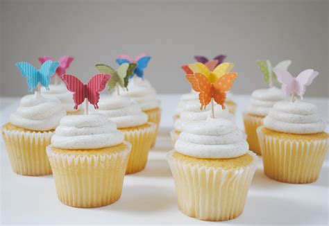 3d butterfly cupcake toppers paperpolaroid
