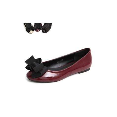 Flatshoes Ribbon Black womens ribbon flat shoes