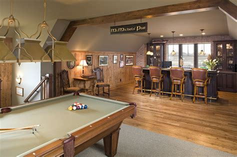 pub room rec room pub farmhouse family room minneapolis