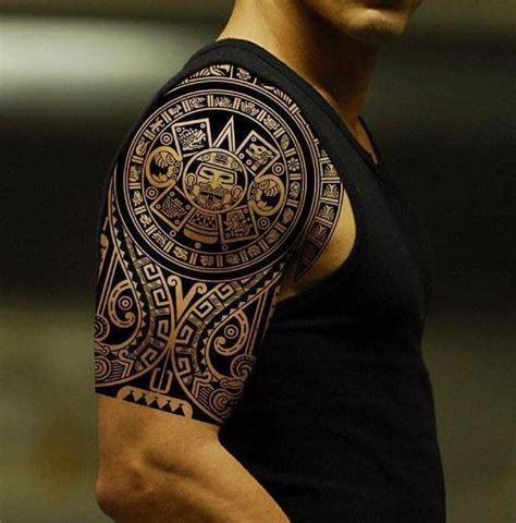 Calendario Azteca En El Brazo Tatuajes Tribales Mayas Y Aztecas Brazo