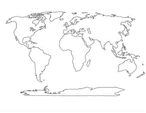 World Map Black And White Printable