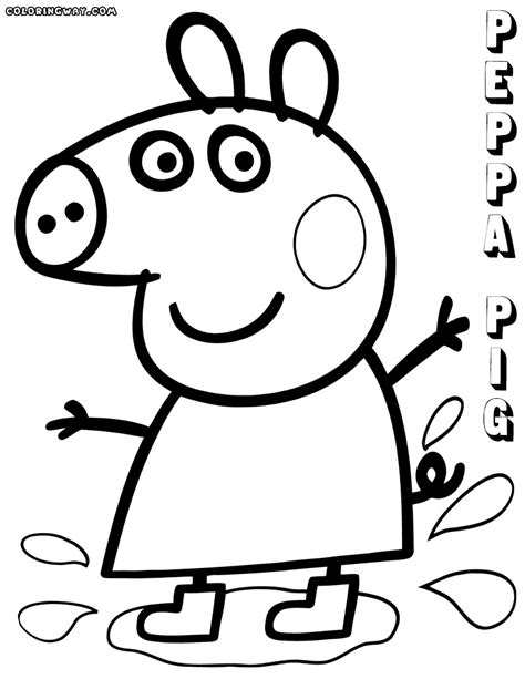 peppa pig muddy puddles coloring pages peppa pig coloring pages coloring pages to download and