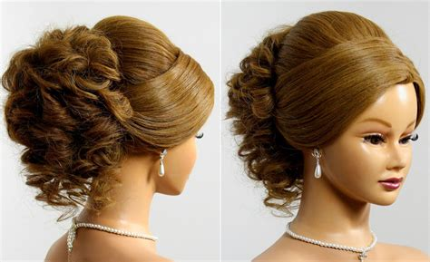 Wedding Evening Hairstyles by Prom Wedding Updo Hairstyle For Medium Hair Makeup