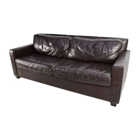 West Elm Leather Sofa Bed Hereo Sofa