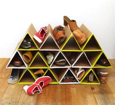 cardboard shoe storage 15 diy cardboard crafts in your decor home design and