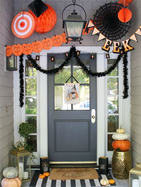 glam farmhouse halloween porch