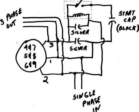 3 phase rotary converter wiring diagram get free image