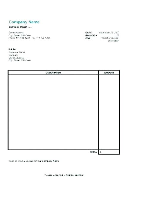 medical invoice template free business template