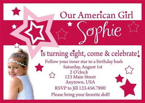 American Birthday Card Template by American Birthday Invitation Invitations American
