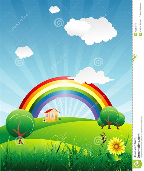 clipart rohani kristen rainbow in a beautiful royalty free stock photos image