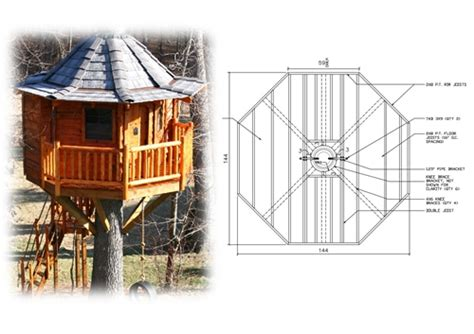 plans for tree houses 12 octagon treehouse plan standard treehouse plans attachment hardware