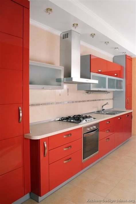 red kitchen with white cabinets red and white kitchen cabinets interior design