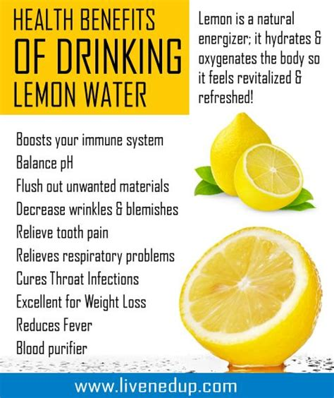 Benefits Of In Detox Water by Health Benefits Of Lemon Water Health