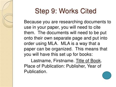 How To Do Works Cited For Research Papers by Do Work Cited Page Research Paper