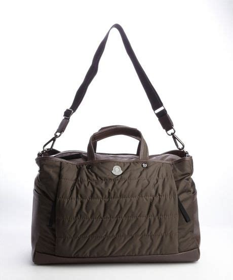 Moncler Oversized Coussin Lacquered Handbag by Moncler Quilted A Porter Bag In Brown For Lyst