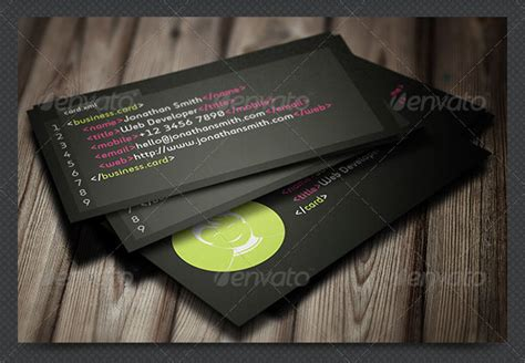 business card templates for software developer 36 developer business card templates psd designs