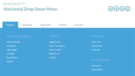 responsive design menu exles 35 free html5 css3 navigation menus for download
