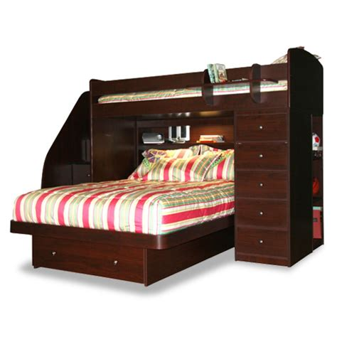 twin and full bunk beds furniture sierra twin over full l shaped bunk bed with