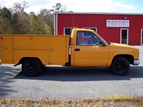 1993 gmc 3 4 ton 2500 utility truck city of alamosa sell used chevrolet 2500 3 4 ton utility pick up truck govtowned low miles no reserve in