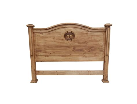 Rustic King Headboard Rustic Wood Headboard With Carved King Tres Amigos World Imports