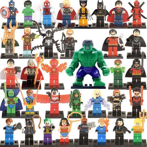 Figure Green Heroes Bricks Balok 35pcs mini doll building block assembly brick collection birthday gift