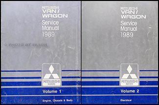 1989 mitsubishi mirage repair shop manual set original 1989 mitsubishi van wagon repair shop manual 2 volume set original