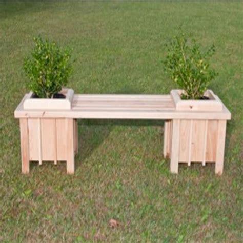 planter seat bench long cypress planter bench seat dfohome