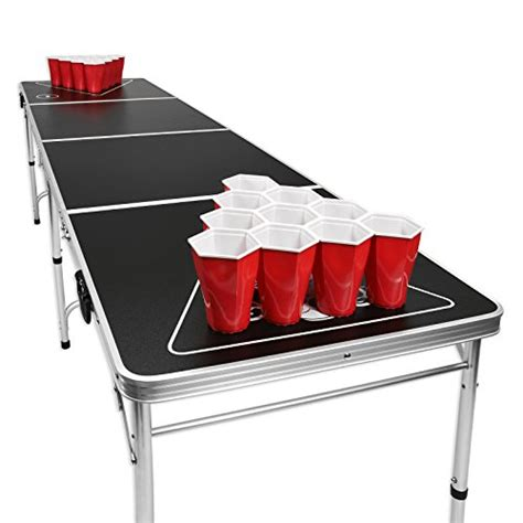 gopong 8 foot portable pong tailgate tables black