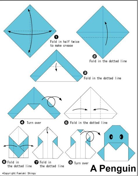 origami penguin easy kid friendly things for the