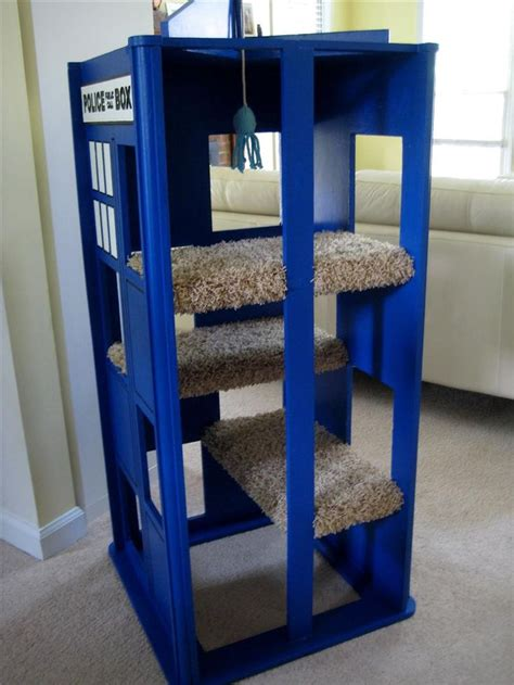 tardis couch tardis cat tree the cat s meow diy ideas pinterest