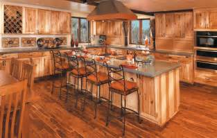 rustic cabinets knotty hickory home