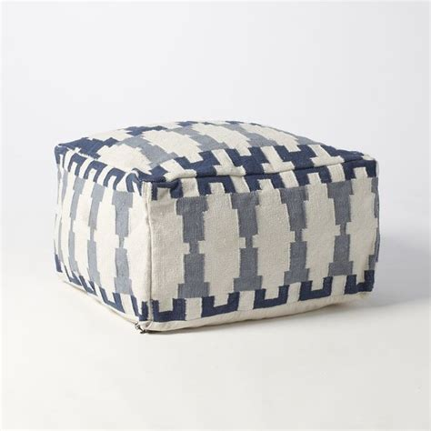 Pillow Poufs by Kew Dhurrie Pouf Floor Pillows And Poufs