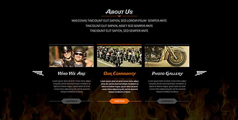 bootstrap themes exclusive biker s club responsive bootstrap template theme gridgum