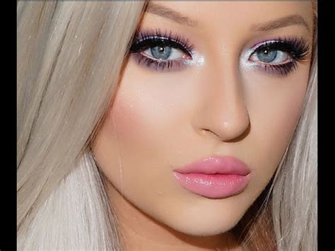 tutorial make up barbie sederhana barbie inspired makeup tutorial pastel eyes pink lips