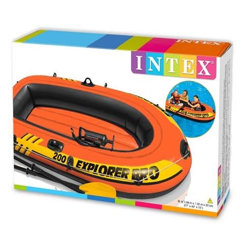 rubberbootje action intex explorer pro 200 boat set inflatable