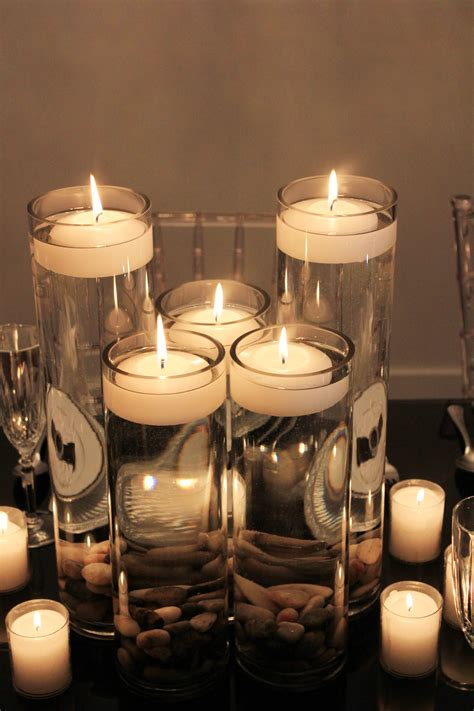 Glass Cylinder Vases 3 Floating Candles Eclat Decor